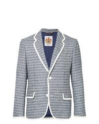 Light Blue Tweed Blazer