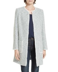 Light Blue Tweed Coat