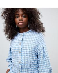 Asos Petite Asos Design Petite Boucle Crop Jacket With Pearl Buttons