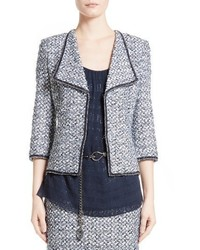 St. John Collection Nala Rever Collar Tweed Jacket