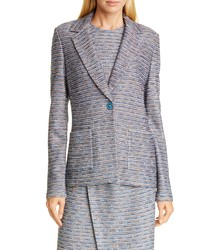 St. John Collection Space Dyed Ribbon Tweed Jacket