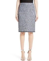 St. John Collection Nala Diamante Tweed Pencil Skirt