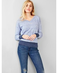 Light blue v neck sweater original 2882157