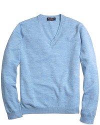 Light Blue V-neck Sweater | Men's Fashion
