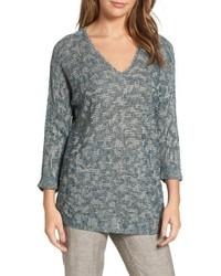 Nic+Zoe Blue Lagoon Sweater