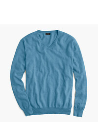 Cotton cashmere v neck sweater medium 575638