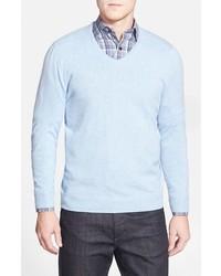 John w nordstrom cashmere v neck sweater medium 361247