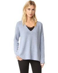 Women's Light Blue V-neck Sweaters from shopbop.com | Women's Fashion