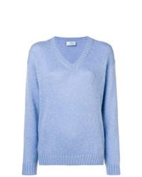 Prada V Neck Knitted Sweater