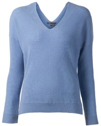 Women's Light Blue V-neck Sweaters from farfetch.com | Women's Fashion
