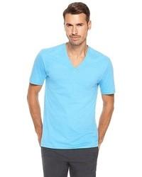 Light Blue V-neck T-shirt