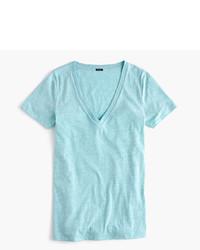 J.Crew V Neck T Shirt In Slub Cotton