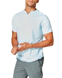 Good Man Brand V Notch Slim Fit Slub Stripe Jersey T Shirt
