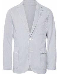 Plus blue striped coolmax seersucker blazer medium 6992953