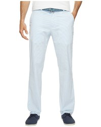Light Blue Vertical Striped Chinos