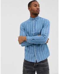 5e876f0b05 Burton Menswear Denim Shirt In Blue Wash