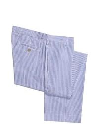 Berle Vintage 1946 Cotton Seersucker Pants Flat Front Light Bluewhite