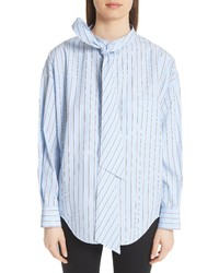 Balenciaga Back Logo Stripe Shirt