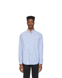 Polo Ralph Lauren Blue And White Striped Oxford Shirt