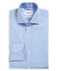 Ledbury Blue Banker Classic Fit Stripe Dress Shirt