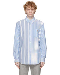 Polo Ralph Lauren Blue Striped Classic Fit Oxford Shirt