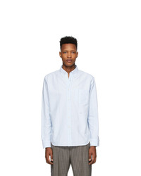 Noah NYC Blue Wide Stripe Oxford Shirt