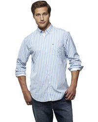 Lacoste Bold Striped Button Down Shirt