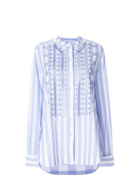 Ermanno Scervino Broderie Anglaise Striped Shirt