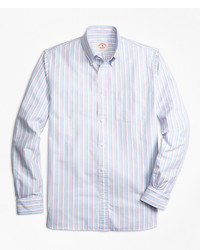 Brooks brothers stripe oxford sport shirt medium 1158754