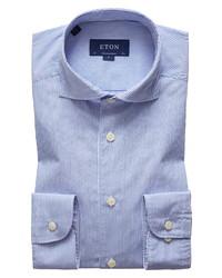 Eton Contemporary Fit Stripe Dress Shirt