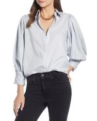 Something Navy Full Sleeve Stripe Shirt
