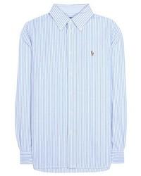6c98a089c Women's Light Blue Vertical Striped Dress Shirts by Polo Ralph ...