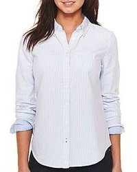 jcpenney Jcp Long Sleeve Oxford Shirt