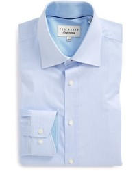 Ted Baker London Oncore Trim Fit Micro Stripe Dress Shirt