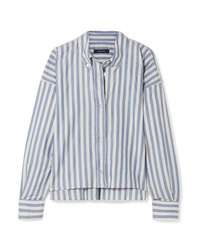 Isabel Marant Macao Oversized Striped Cotton Poplin Shirt