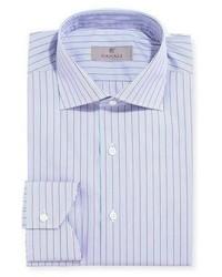 Canali Modern Fit Multi Stripe Dress Shirt