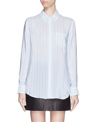 Equipment Reese Pinstripe Silk Shirt