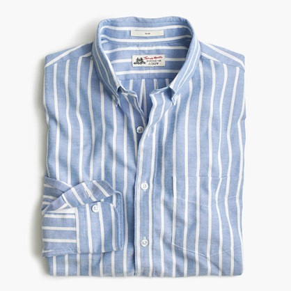 J.Crew Slim Thomas Mason For Shirt In Brushed Striped Oxford, $148 ...
