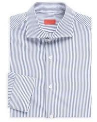 Isaia Striped Cotton Dress Shirt