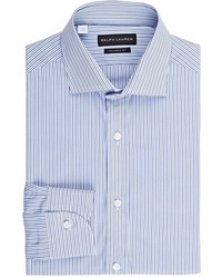 Ralph Lauren Black Label Striped Dress Shirt Blue Size 16