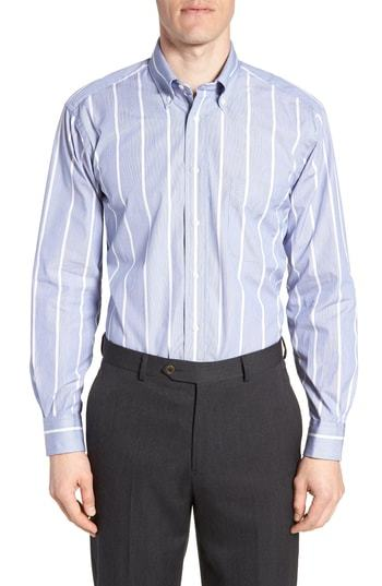 Gitman Tailored Fit Stripe Dress Shirt