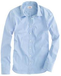 Tall stretch perfect shirt in classic stripe medium 72957