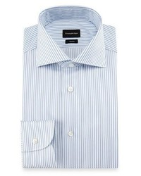 Trofeo double stripe dress shirt whiteblue medium 1194794