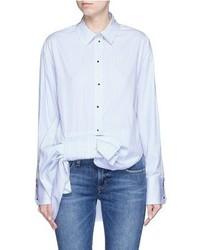 Victoria Victoria Beckham Asymmetric Bow Candy Stripe Shirt