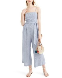 68517bfe090f Light Blue Vertical Striped Jumpsuits for Women
