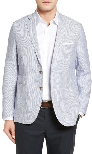 Peter Millar Island Pinstripe Linen Sport Coat | Where to buy ...