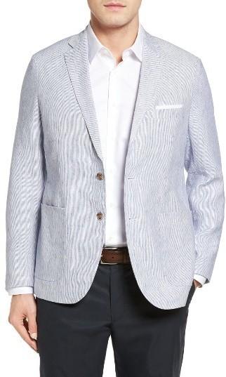 Peter Millar Island Pinstripe Linen Sport Coat | Where to buy ...
