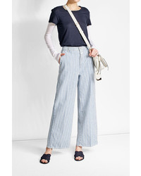 Striped wide leg pants medium 3758718