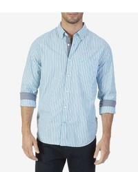 Nautica Bengal Stripe Long Sleeve Sportshirt