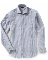 Thomas Dean Big Tall Ombre Stripe Long Sleeve Woven Shirt
